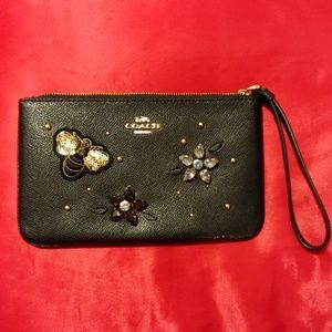 Coach leather special edition large wristlet